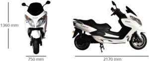 Maxi Scooter Eléctrico Ebroh Strada Max 5000w Gris