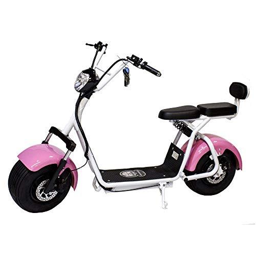 Moto eléctrica Citycoco Last Mille. Potencia 1400W Rosa