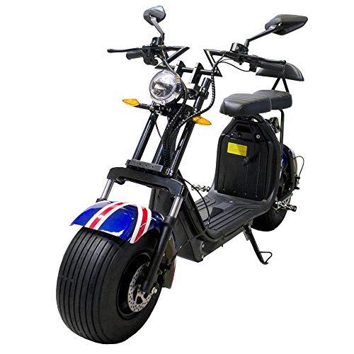 Moto eléctrica CityCoco Last Mille. Potencia 2000W Bandera Británica