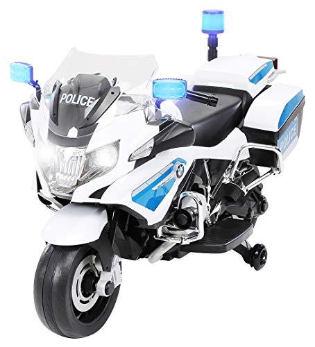 ▷ Moto ELÉCTRICA para NIÑOS BMW R1200 POLICIA 12V