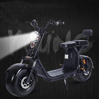 1500 W 60 V motocicleta eléctrica Citycoco doble batería de litio moda...