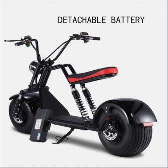 1500 W adulto motocicleta eléctrica scooter Eléctrico Citycoco LED faros batería de...