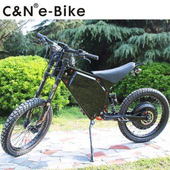 2018 poderosa motocicleta eléctrica 72 V 8000 W Enduro Ebike montaña eléctrica...