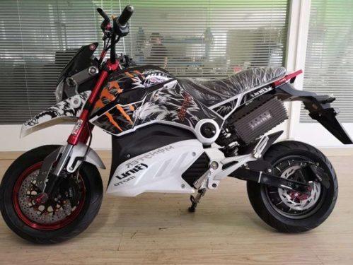 2018 Venta caliente M5 72 v 20AH 1500 W bicicleta eléctrica Scooter motocicleta Moto Electrica doble disco de freno