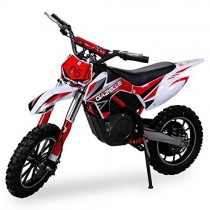 Actionbikes Gazelle – Minimoto de cross, motor eléctrico de 500 W rojo