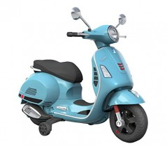 B70592 Moto eléctrica PIAGGIO para niños VESPA 12V azul