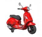 B70592 Moto eléctrica PIAGGIO para niños VESPA GTS con ruedas LED 12V – Rojo