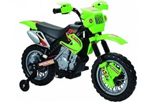Bicicleta de 6 V para niños, Estilo Moto de Cross