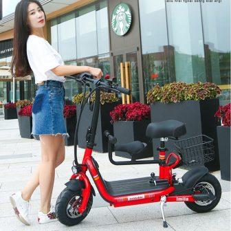 Bicicleta eléctrica plegable batería de litio ciclomotor mini batería para adultos coche...