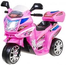 BSD Moto Electrico para Niños Motocicleta Alimentado con Batería rosa