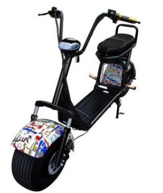 Citycoco impermeable Scooter Eléctrico del coche de la batería de litio 60...