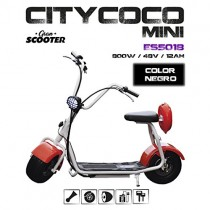 CityCoco MINI 800W/48V/12aH/Litio Negro Gran-Scooter