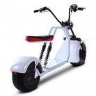 DOS Moto Electrica Scooter Ciclomotor Electrico de 1500w bateria 60v 20Ah Blanca