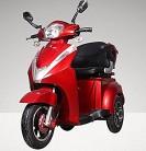 Econelo – Triciclo eléctrico móvil para mayores, silla eléctrica, rojo