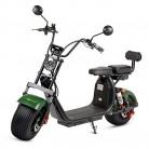 ECOXTREM Moto, City Coco, Scooter eléctrico, Moderno y casual, Color Verde Oscuro