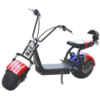 Eléctrico Citycoco Scooter motocicletas adulto e-bici Citycoco asiento doble 1000 W 60...