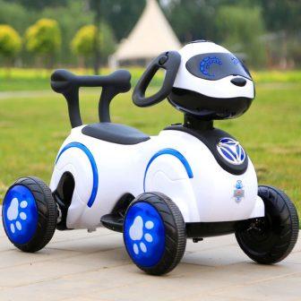 Espacio perro niños motocicleta eléctrica triciclo batería del coche con música niños...
