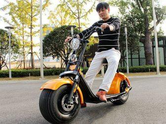 Estilo Harley coches eléctricos moto bike Smart Gran ancho Discos de neumáticos...
