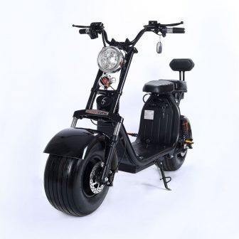 Grande redondo Harley scooter Eléctrico adultos batería doble coche de scooter de...