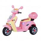 Homcom Coche Triciclo Moto Eléctrica Infantil rosa