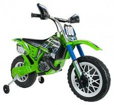 INJUSA – Moto de Cross Kawasaki a batería 6V para niños de 3 años