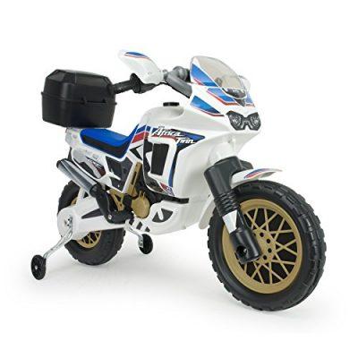 Injusa – Moto Honda Africa Twin eléctrica 6V para niños