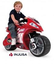INJUSA – Moto Wind para niños de más de 3 años, batería 6V, rojo