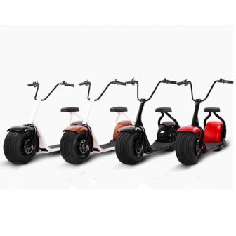 Li-ion neumático carretera pie 2 rueda Scooter Eléctrico, motocicleta eléctrica para adultos