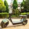 Los adultos scooter Eléctrico Citycoco de 2 ruedas de litio 60 V delantero trasero de absorción de choque doble asiento...