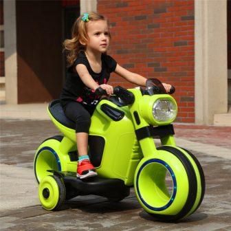 Los niños eléctrica dual de la motocicleta grande triciclo niño niña 3-6...