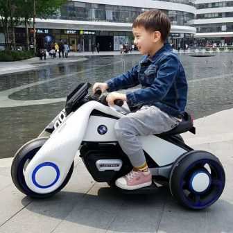 Los niños moto eléctrica paseo en coche de juguete para niños niñas...