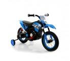 LT876 Motocicleta eléctrica infantil MOTO CROSS BABY ruedas inflables – Azul