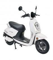 Lunex Scooter eléctrico Adulto E-Scooter 1200W Retro Vespa blanca