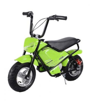 Mini moto eléctrica infantil 250w 24V verde