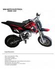 Mini pit bike eléctrica con motor de 250w / 24v