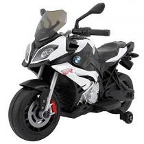 Mondial Toys Moto eléctrica Montar para Niños 12 V Original BMW S1000 XR Blanca