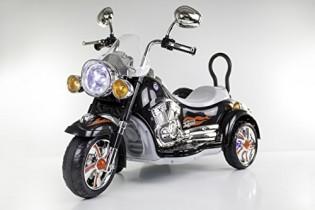 MOTO CON SIDECAR 12V NEGRA C/MP3