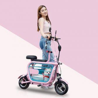 Motocicleta batería de litio motos eléctricas 48 V 580 W Mini Citycoco...