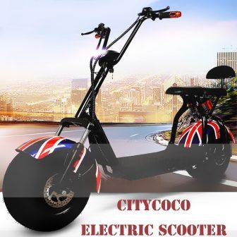 Motocicleta bicicleta eléctrica scooter Eléctrico Citycoco neumático motor 1000 W dos ruedas...
