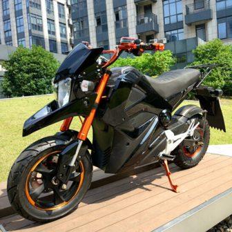 Motocicleta eléctrica de extraordinaria calidad V 72 V 2000 W de tránsito...