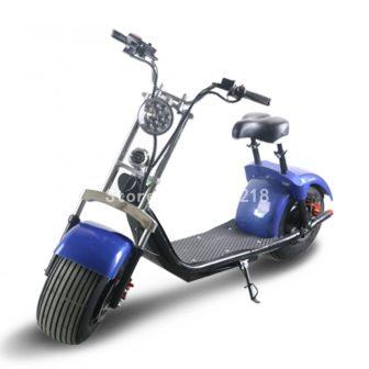 Motocicleta eléctrica Scooter Doble amortiguador neumático ancho rueda grande ciudad Scooters auto...