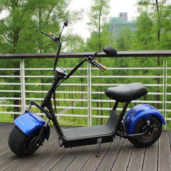 Motocicleta eléctrica Scooter Eléctrico Citycoco 60V12A 1000 W ambiental batería de iones...
