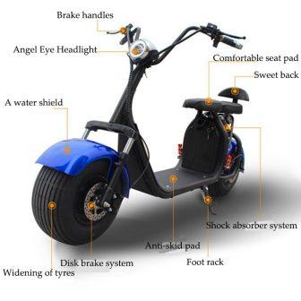 Motocicleta eléctrica scooter Eléctrico de litio desmontable baterías de dos scooter asiento