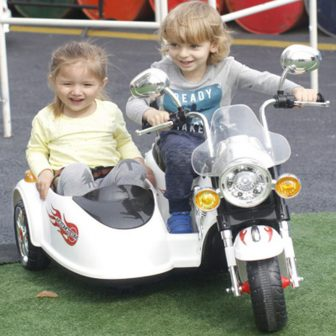 Niños eléctrico Motor A 3-8 años de edad conductor tome dos bebés...