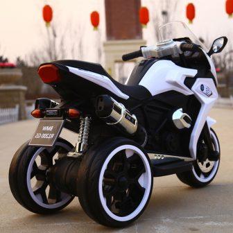 Niños motocicleta eléctrica de tres ruedas gran tamaño puede sentarse dual-drive recargable...
