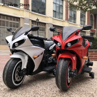 Nuevo R1 niños bicicleta eléctrica en coche 1-8 años de edad carga...