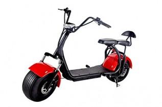 OOBY Motocicleta Eléctrica Harley Q2 Vespa del Adulto 20A Red