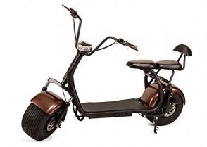 OOBY Motocicleta Eléctrica Harley Q2 Vespa del Adulto 20A Brown
