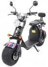 PEQUENENES Patinete Scooter EFLUX Harley 1500 W 60 V 20AH BATERIA Ion Litio (Bandera Inglesa)