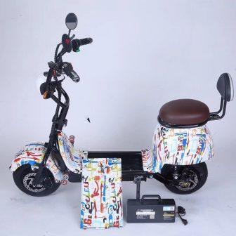 Pequeño Harley scooter Eléctrico para los hombres y las mujeres-tipo mini-conductor coche...